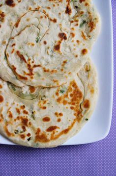 Chinese Green Onion Pancakes by shesimmers: 'Bing!' #Chinese_Pancakes #Scallions #Bing #Flat_Bread