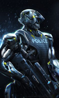Robocop Redesign Illustrations