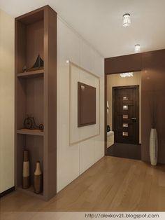 """Дизайн-бюро """"Двоеточие"""": Прихожая с зеркальным шкафом Decoration, Nice, Garden, Kitchen, Closet, House, Design, Home Decor, Furniture"""