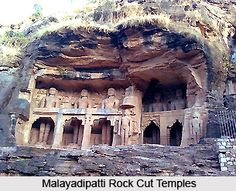Malayadipatti Rock Cut Temples, Tamil Nadu 3rd-4th century