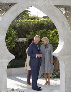 The Prince of Wales, pictured with Camilla, is  a very keen and talented gardener himself...