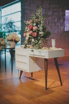 pretty flower arrangement for church