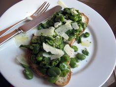 Fava Bean and Pecorino Bruschetta