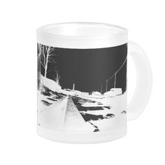 Ground View Of Rail Road Tracks - negative Coffee Mug    •   This design is available on t-shirts, hats, mugs, buttons, key chains and much more    •   Please check out our others designs and products