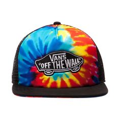 76c4ef990e Shop for Vans Classic Patch Tie Dye Trucker Hat in Black at Journeys Shoes.  Shop