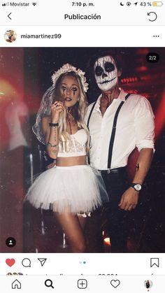 Novia y novio muerto halloween