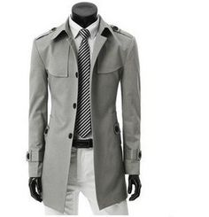 Free Shipping Men's Long Coat High Quality Blend Shoulder Trench Jacket Badges With Belt Single breasted Plus Size M XXXL 912-in Trench from Apparel & Accessories on Aliexpress.com
