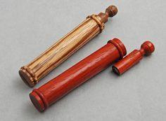 Padouk & Zebrawood needle cases