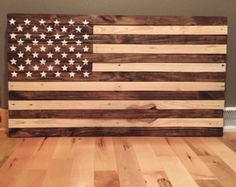 Wooden American Flag Wall Hanging reclaimed pallet american flag hand built betsy ross style 42