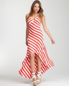03f833966a6 Wonderful Looking Summer Dress!  bebe Remy Hi-lo Striped Halter Dress  Fashion Tips