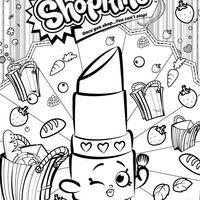 Desenho de Shopkins batom para colorir