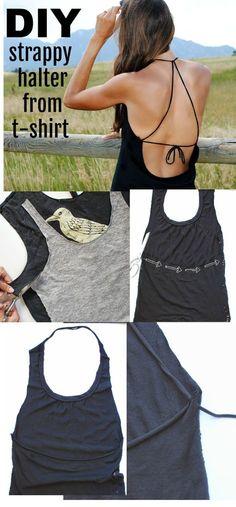 DIY  No Sew T-shirt Refashion Diy Shirts No Sew ba192234dc