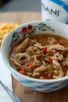 Slow Cooker Chicken and White Bean Soup with Quinoa | AggiesKitchen.com