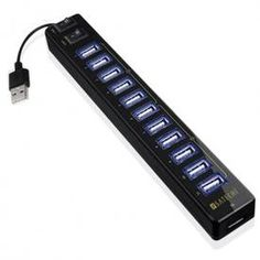 """""""Satechi UH-12P USB 2.0 Hub with Power adds twelve additional USB 2.0 ports to PC or Mac, allowing you to connect USB devices such as digital cameras, external hard drives, flash drives, and printers."""" $29.99    Now, if it's not crapware, it'll be pretty cool."""