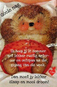 Good Night Wishes, Good Morning Good Night, Good Night Quotes, Morning Wish, Day Wishes, Good Night Sleep Tight, Evening Greetings, Goeie Nag, Afrikaans Quotes