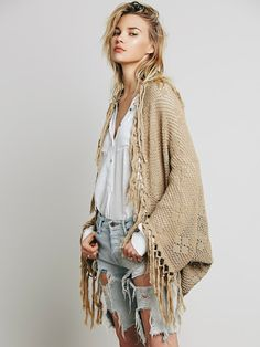 Outstanding Crochet: Crochet Fringe Cocoon from Free people. LOVE THIS ~!~