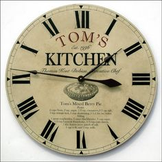 Give a Father's Day gift that reflects Dad's passion!  Does he love to cook?  Put his favorite recipe on a clock.