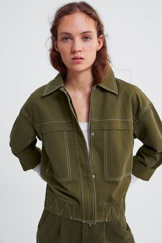 Zara khaki jacket