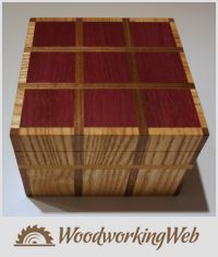 EDITOR'S CHOICE (10/21/2015) Easy Plaid Box by lanwater View details here: https://woodworkingweb.com/creations/2365-easy-plaid-box