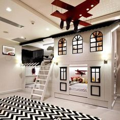 40 Stylish Kids' Bedroom - Page 8 of 44 - coloredbikinis. Cool Kids Bedrooms, Kids Bedroom Designs, Room Design Bedroom, Room Ideas Bedroom, Kids Room Design, Awesome Bedrooms, Bedroom Decor, Kids Bedroom Ideas, Childrens Bedrooms Boys