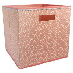 Target Fabric Cube Storage Bin Mint Stripe   Pillowfort™ | Home  Organization | Storage Bins, Toy Storage Bins, Cube Storage
