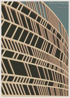 L'architetto e illustratore portoghese André Chiote ha realizzato questa serie di stampe che rendono omaggio all'architettura dei musei di tutto il mondo, i disegni sono immediatamente riconoscibili grazie ad uno stile pulito e minimalista.