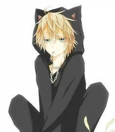 Anime boy with neko jacket ~