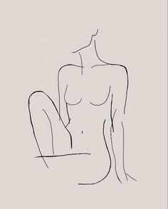 Body Drawing, Woman Drawing, Woman Body Sketch, Drawing Women, Minimalist Drawing, Minimalist Art, Art Drawings Sketches, Easy Drawings, Tattoo Drawings
