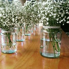 Decorated jars from bridal.table.veil