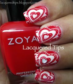 LACQUERED TIPS: Valentine's Day Nails 2