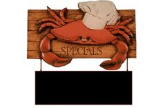 Crab Header with chalkboard  item 621AR