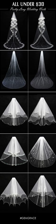 Long lace wedding veil styles for you. Cheap price with free shipping. Shop now!