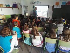 Charla Uso Responsable de las TICs impartido a los alumnos de primaria del CEIP Nuestra Señora del Castillo, de Perales de Tajuña (Madrid).