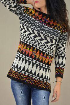 Γυναικείο πουλόβερ ζακάρ  PLEK-2734   Πλεκτά  Πλεκτά και ζακέτες Blouse, Tops, Women, Fashion, Moda, Fashion Styles, Blouses, Fashion Illustrations, Woman Shirt