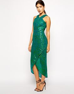 VLabel London Seymour High Neck Midi Dress - see more at http://themerrybride.org/2014/12/12/mother-of-the-bride-or-groom-dress-options/