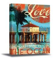 Love The Ocean Canvas Art