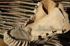 Wilderness Survival Skills and Bushcraft Antics: Moccasin boot hybrids - old meets new (traditional buckskin woodland footwear, with a moder...