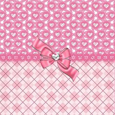 Girly Pink Hearts And Argyle Digital Art