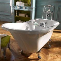 Colonne pour lavabo retro blanc leroy merlin 39e la colonne salle de bain - Baignoire retro castorama ...