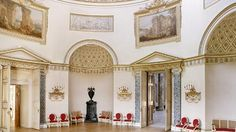 Robert Adam Interiors | The Saloon at Kedleston Hall, Derbyshire