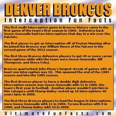 #DenverBroncos #Denver #Broncos #interceptions #defense #NFL #trivia #Football #FunFacts #UltimateFunFacts