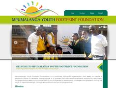 WEBSITE DESIGN >> Mpumalanga Youth Footprint Foundation -  Created By Design so Fine School Brochure, Website Designs, Non Profit, Young People, Footprint, Positive Thoughts, Foundation, Youth, Positivity