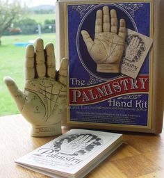 PALMISTRY HAND KIT WITH INSTRUCTION BOOKLET Wicca Pagan Witch Goth PALM READING