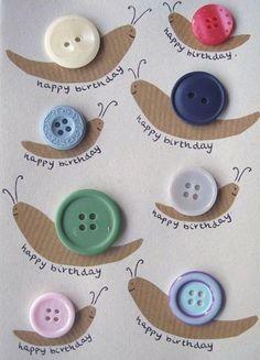 button snail craft « Preschool and Homeschool Unique Birthday Cards, Handmade Birthday Cards, Happy Birthday Cards, Diy Birthday, Cards For Men, Tuxedo Card, Snail Craft, Birthday Cards For Boyfriend, Happy Happy Happy