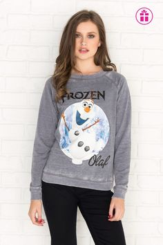 Slate grey Olaf graphic sweatshirt - New Arrivals Girl Outfits, Fashion Outfits, Womens Fashion, Olaf Frozen, Latest Trends, Topshop, Graphic Sweatshirt, Clothes For Women, Grey