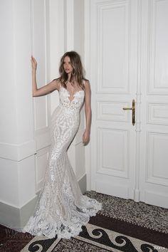 berta bridal fall 2015 beaded lace sheath wedding dress illusion neckline  full view 2015 Wedding Dresses c6c2e183b571