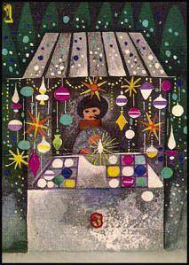 Illustration by Zbigniew Rychlicki Christmas Past, All Things Christmas, Xmas, Christmas Markets, Christmas Wishes, Retro Christmas Decorations, Vintage Christmas Images, Christmas Graphics, Old Fashioned Christmas