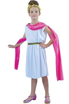 Girl s Roman Goddess Costume, girls roman costume, girls Roman fancy dress, Fancy Costumes, Dress Up Costumes, Costume Ideas, Roman Goddess Costume, Goddess Fancy Dress, Roman Dress, Fancy Dress For Kids, Girls Dresses, Romans