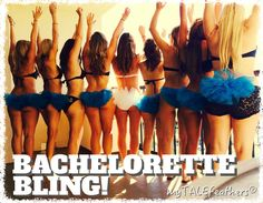 Every Bachelorette Needs some BLING! Customize Your Colors! Bling Bikini Veils by myTALEfeathers®
