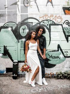 Graffiti Wedding Ideas for The Wild at Heart Budget Wedding Dress, Low Budget Wedding, Wedding Dresses, Pre Wedding Photoshoot, Wedding Pics, Wedding Styles, Wedding Ideas, Modern Wedding Inspiration, Wedding Photography Inspiration